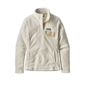 PATAGONIA synchilla white re-tool snap pullover